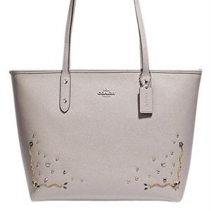 Coach City F66906 Zip with Stardust Crystal Rivets